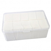 HUELE 1080pcs Plastic Box Cotton Makeup Remover Cotton Cosmetic Cleansing Wipes Deep Cleansing Wipe Makeup Tools