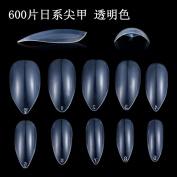 JUMP New 600/1200/1800 ¡Á Oval Stiletto Shape Full False Nail Tips Almond Shape Acrylic Gel Claw Natural White