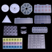 BORN PRETTY 1Pc Clear Nail Tips Decorations Container with Cap Nail Art Tool Box Storage Case