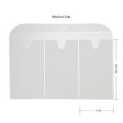 CICI & SISI Stamping Plates Holder Slots Nail Art Stamp Plate Storage Loose-Leaf,Medium 10pcs