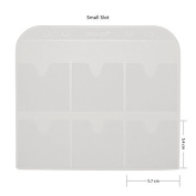 CICI & SISI Stamping Plates Holder Slots Nail Art Stamp Plate Storage Loose-Leaf,Small 10pcs
