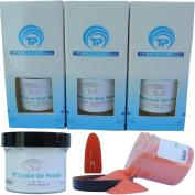 Nail Dipping Powder Kit ~ 60ml Orange tp16 ~ dip powder nail kit for Fast, Easy dip nail powder starter kit at Home, No UV Light Needed ~ Won't Damage Natural Nails ~ Safe & Odourless