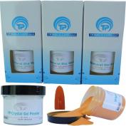 Nail Dipping Powder Kit ~ 60ml Mango tp24 ~ dip powder nail kit for Fast, Easy dip nail powder starter kit at Home, No UV Light Needed ~ Won't Damage Natural Nails ~ Safe & Odourless