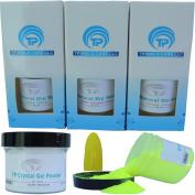 Nail Dipping Powder Kit ~ 60ml Neon Yellow tp19 ~ dip powder nail kit for Fast, Easy dip nail powder starter kit at Home, No UV Light Needed ~ Won't Damage Natural Nails ~ Safe & Odourless