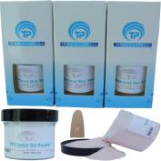 Nail Dipping Powder Kit ~ 60ml Peach tp25 ~ dip powder nail kit for Fast, Easy dip nail powder starter kit at Home, No UV Light Needed ~ Won't Damage Natural Nails ~ Safe & Odourless