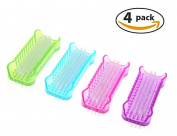 PrettyDate Nail Brush Double Sided Nail Hand Scrubbing Cleaning Brush, Pack of 4