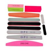 Le Fu Li 11pcs/set Nail Art Sanding Salon Nail Buffer Nail Files Sandpaper Manicure UV Gel Polisher Manicure Pedicure Nail Tools