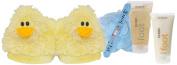 Bath Accessories Deluxe Spa Slipper Set, Duck