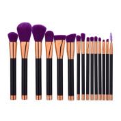 JaneDream Professional Contour Makeup Brushes Set Eyeshadow Eyebrow Lip Eyelash Eyeliner Brushes Black Purple
