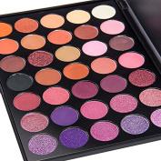 DONGXIUB 35 Colour Eyeshadow Warm Colour Smoky Makeup Palette Professional Eyeshadow Make Up Kit Set