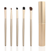 LAIXI Beauty 5pc Professional Makeup Brushes Premium Silky Soft Cosmetics Brushes Eye Shadow Brush Concealer Brow Brush Make Up Brush