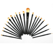 Lychee 20Pcs Black Blending Foundation Eye shadow Eyeshadow Eyeliner Lip Makeup Brushes