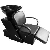 Salon Backwash Shampoo Barber Chair Beauty Spa Bowl Sink Unit Adjustable Black