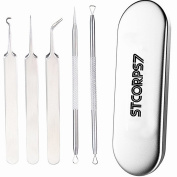 STCORPS7 Blackhead Remover, 5PCS Acne Scar Removal, Remove Blackheads, Skin Blemish Remover, Tool Set Treatment for Blemish, Acne Pimple Extractor, Stainless Steel Blackhead, Blackhead remover kit
