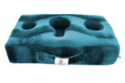 Cup Cosy Pillow (Teal)- The world's BEST cup holder! Keep your drinks close and prevent spills. Use it anywhere-Couch, floor, bed, man cave, car, RV, park, beach and more!