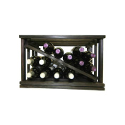 Wine Cellar Innovations Mini-Stack Series Midnight Black Stain Open Diamond Stackable Wine Rack