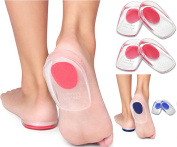 Cushion Insole Support Silicone Gel Heel Pad Foot Cup for Ankle Paid Heel   Spur Back Pain,   Tendinitis & Plantar Fasciitis   Massage   Shock Absorbent   Pain Relief