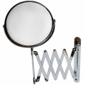 18cm Large Wall Mounted Extension Vanity Mirror by Belle Vous - 1x and 3x Magnification - 41cm Maximum Extension - For Bathroom and Bedroom - Stainless Steel Chrome Finish - Swivel Head Design