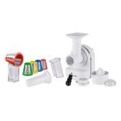 Elgento E23005 3-in-1 Juicer, Shredder and Ice Cream Maker, 150 W - White