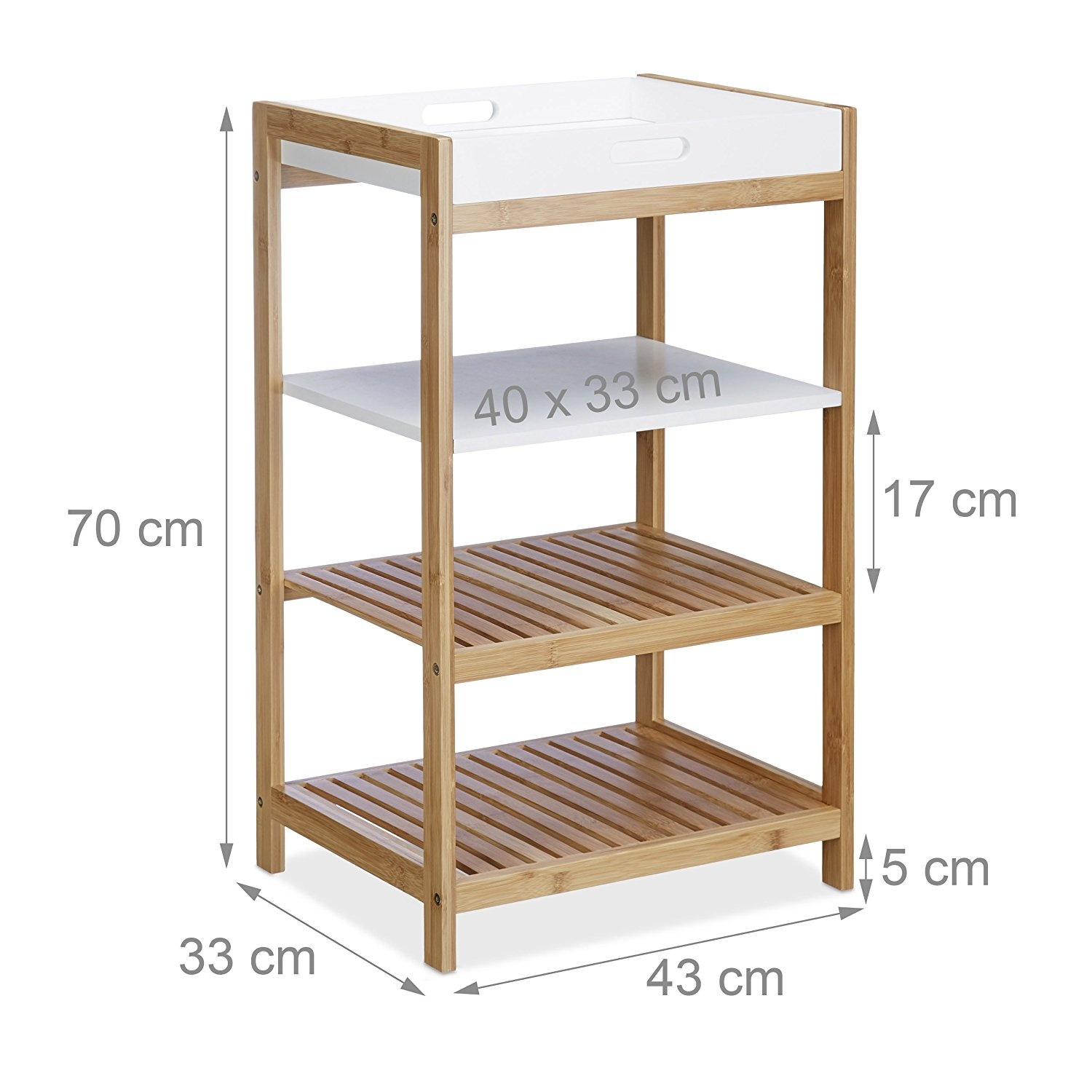 DQICE Wooden Storage Rack Solid Wood Multi-Purpose Rack Kitchen Drain Tray