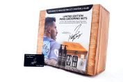 Official Manchester City Wooden Grooming Set. Official Signature of Sergio Ageuro. Ideal for Fathers Day, Christmas and Birthdays. Best Football Gift. Made from Natural Wood