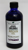 Argan Lavender. Pure organic fair trade sustainable cold pressed Argan oil (100ml) scented with Lavender High French altitude essential oils. Supporting the UCFA