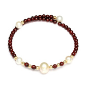 Freshwater Cultured Pearl Bracelet, AAA Pearl, Natural White to Cream, 17cm - 19cm Wrist Fit