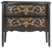 Safavieh American Homes Collection Lennox Black & Gold Chest