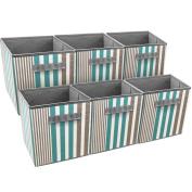 Sorbus Foldable Storage Cube Basket Bin, Vertical Stripe Line Pattern