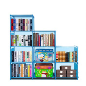 Adjustable Korean Style Home Furniture Book Storage Shelf with 9 Shelves