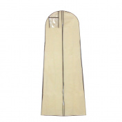 Mitofox Breathable Wedding Gown Dress Garment Bag Hanging and Carrying Portable Cover Bags Beige
