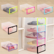 Promisen Clear Plastic Shoe Storage Drawer Organiser Box Stackable Shoe Box Set