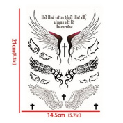 Luxurious Angel Wings Tattoo Stickers Temporary Tattoos