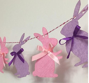 Bunny Rabbit Birthday Banner Decorations Party Supplies for Girls