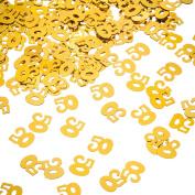 Willbond Gold 50th Birthday Confetti, 50 Number Confetti, 50th Party Confetti, 2 Bags