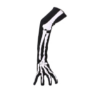 Tinksky Halloween Skeleton Gloves Long Arm Full Finger Gloves Costume Cosplay Party Halloween Costumes 1 Pair