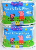 2 x 90 Peppa Pig Hand and Body Flushable Wipes, Dermatologically tested
