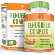 Fenugreek - Complex with Magnesium - Zinc - L Arginine - 1320 mg - 90 Capsules (3 Month Supply) by Earths Design