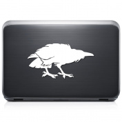 Raven Bird REMOVABLE Vinyl Decal Sticker For Laptop Tablet Helmet Windows Wall Decor Car Truck Motorcycle - Size (10 Inch / 25 Cm Wide) - Colour
