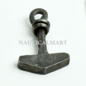 Forged Steel Thor's Hammer Focal Pendant