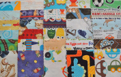 I Spy Novelty Boy Fabric 13cm Squares Charm Pack, 30 different pieces, 100% cotton