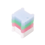 Pink-day Plastic Embroidery Floss Craft Thread Bobbin Cross Stitch Storage Holder 50 Pcs