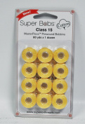 Super Bobs MasterPiece Cotton 80yd Prewound Bobbins 12ct Class 15 Lemonade