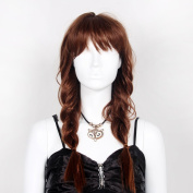 STfantasy Brown Braid Display Female Mannequin Wigs Long Natural Synthetic Hair Fluffy Peluca 60cm 190g