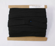 25 yard Reel - 2.5cm wide Gripper Waistband Sport Elastic Sold By the Reel - Black