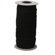 Top Hunter Black 120-Yards Length 0.3cm Width Braided Elastic Cord/Elastic Band/Elastic Rope/Bungee/Black Heavy Stretch Knit Elastic Spool