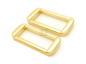 CRAFTMEmore 4 PCS 3.2cm Unique Rectangle Rings Buckle For Bag Belt Strap Webbing Heavy Duty Loop Quality Finish