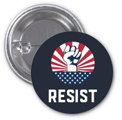 #Resist March America Rights 2 PACK of 7.6cm Buttons Flare by Debbie's Designs
