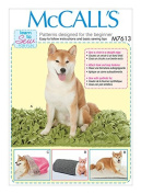 MCCALLS M7613 DOG CAT Pet Beds with Contrast and Lining Variations SEWING PATTERN