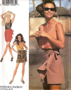 Style vintage sewing pattern 2299 sarong style skirt and skort with top – Size 6-16